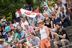 Fans in Half finals during Day 4 of 2017 ECA Canoe Slalom European Championships, on June 3, 2017 in Tacen, Ljubljana, Slovenia. Photo by Ziga Zupan / Sportida