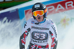 17.01.2016, Hermann Maier Weltcupstrecke, Flachau, AUT, FIS Weltcup Ski Alpin, Flachau, Damen, Riesenslalom, 2. Lauf, im Bild Katharina Truppe (AUT) // Katharina Truppe of Austria reacts after her 2nd run of Ladie's Giant Slalom for the FIS Ski Alpine World Cup at the Hermann Maier Weltcupstrecke in Flachau, Austria on 2016/01/17. EXPA Pictures © 2016, PhotoCredit: EXPA/ Erich Spiess