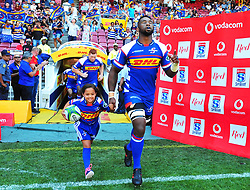 Cape Town 180217-Stomers captain Siya Kolisi  take the field when playing their opening game of the Rugby Super 15 at Newlands.Photograph:Phando Jikelo/African News Agency/ANA