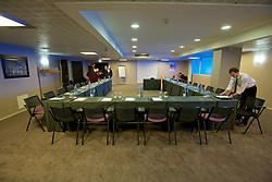 LILLE, FRANCE - Wednesday, January 27, 2016: Meeting room Europa at the Crowne Plaza Lille Hotel during an inspection visit ahead of the UEFA Euro 2016 Tournament. (Pic by David Rawcliffe/Propaganda)