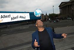 EDITORIAL USE ONLY<br /> John Barnes in Liverpool as he wishes his former team, Liverpool FC, good luck ahead of tomorrow's Champions League Final in Kiev on behalf of Three UK.