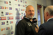 Keith Hill during the Sky Bet League 1 match between Rochdale and Wigan Athletic at Spotland, Rochdale, England on 14 November 2015. Photo by Daniel Youngs.