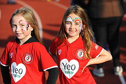 Bristol City Women fans - Mandatory by-line: Nizaam Jones/JMP - 27/10/2019 - FOOTBALL - Stoke Gifford Stadium - Bristol, England - Bristol City Women v Tottenham Hotspur Women - Barclays FA Women's Super League