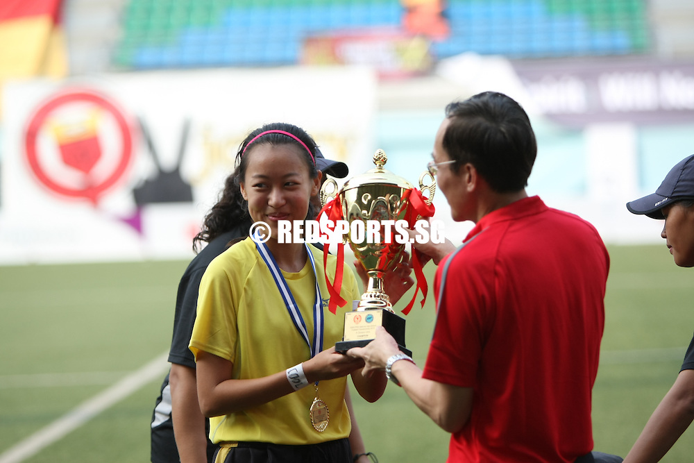 Jalan Besar Stadium, Thursday, May 23, 2013 &mdash; Victoria Junior College (VJC) beat Millennia Institute (MI) 2&ndash;0 to win their fifth National A Division Girls&rsquo; Football Championship title in six years.<br />