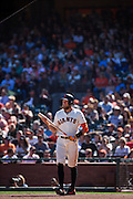 San Francisco Giants right fielder Hunter Pence (8) waits for a pitch against the Arizona Diamondbacks at AT&T Park in San Francisco, Calif., on August 31, 2016. (Stan Olszewski/Special to S.F. Examiner)