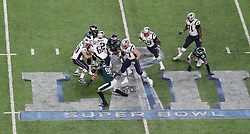 February 4, 2018 - Minneapolis, CA - Super Bowl Eagles wins 41-33 over Patriots..Philadelphia Eagles defensive end Derek Barnett (96) recovers a fumble by New England Patriots quarterback Tom Brady (12) at U.S. Bank Stadium within the last two minutes on Sunday, Feb. 4, 2018 in Minneapolis, CA (Credit Image: © Paul Kuroda via ZUMA Wire)