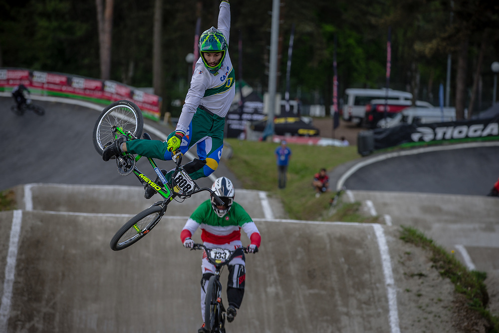 #808 (DA SILVA Ariel Joao) BRA during round 4 of the 2017 UCI BMX  Supercross World Cup in Zolder, Belgium.