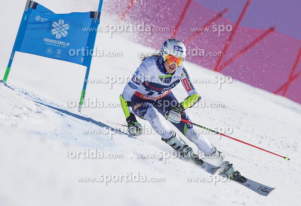 Nika Tomsic from Slovenia during the giant slalom for European Cup on 27.2.2020 on Krvavec, Cerklje na Gorenjskem, Slovenia. Photo by Urban Meglič / Sportida