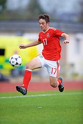 NEWPORT, WALES - Sunday, September 24, 2017: Wales' Joshua Francombe during an Under-16 International friendly match between Wales and Gibraltar at the Newport Stadium. (Pic by David Rawcliffe/Propaganda)