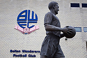 Nat  Lofthouse Statue. The EFL Sky Bet League 1 match between Bolton Wanderers and Wycombe Wanderers at the University of  Bolton Stadium, Bolton, England on 15 February 2020.
