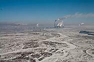 Mongolia. Ulaanbaatar. Elevated view of the capital in winter under the snow  Ulan Baatar - Mongolia    /   vue aerienne de la capitale sous la neige en hiver  Oulan Bator - Mongolie   /   L0055858