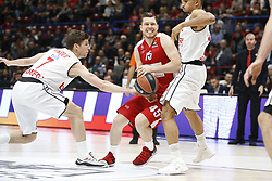 November 17, 2017 - Milan, Milan, Italy - Dairis Bertans (#45 AX Armani Exchange Milan) drives to the basket during a game of Turkish Airlines EuroLeague basketball between  AX Armani Exchange Milan vs Brose Bamberg at Mediolanum Forum, on November 17, 2017 in Milan, Italy. (Credit Image: © Roberto Finizio/NurPhoto via ZUMA Press)
