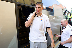 Gasper Vidmar at arrival of Slovenian basketball team from a friendly tournament in Spain, on August 9, 2010 at City Hotel, Ljubljana, Slovenia. (Photo by Vid Ponikvar / Sportida)