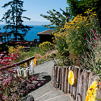 Overview of the Craidelonna Property in Sooke, British Columbia where Travis and Amy hosted their Vancouver Island wedding.