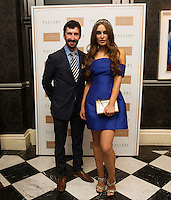 30/07/2015 report free : John Faller, Fallers Jeweller with Rozanna Purcell, at the 4 star Hotel Meyrick's Most Stylish Lady competition, for Ladies Day Galway Race week 2015, Judges were by leading Irish Model Rozanna Purcell, Mandy Maher Catwalk Models and Mary Lee , Model The winners received an amazing €2,000 prize package from Fallers of Galway . Photo:Andrew Downes, xposure