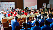 Athletes Leadership Program Workshop on Unified Sports Conference at Novotel Hotel during the 2013 Special Olympics European Unified Football Tournament in Warsaw, Poland.<br /> <br /> Poland, Warsaw, June 07, 2012<br /> <br /> Picture also available in RAW (NEF) or TIFF format on special request.<br /> <br /> For editorial use only. Any commercial or promotional use requires permission.<br /> <br /> <br /> Mandatory credit:<br /> Photo by © Adam Nurkiewicz / Mediasport