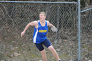 Oxford High's Tom Kendricks throws the discus during a track meet at Oxford High School in Oxford, Miss. on Saturday, March 13, 2010.