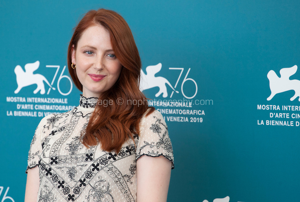 Venice, Italy, 31st August 2019, Roisin O'Donovan at the photocall for the film Vivere (To Live) at the 76th Venice Film Festival, Sala Grande. Credit: Doreen Kennedy/Alamy Live News