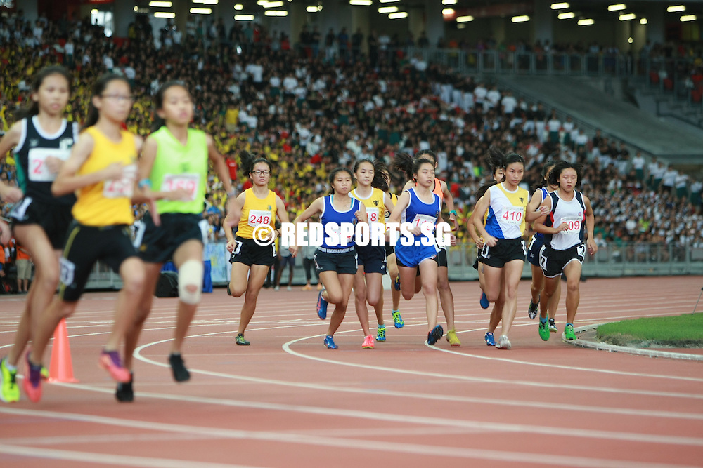 Singapore National Stadium, Friday, April 29, 2016 — Addeen Idzni Binte Imran of Singapore Sports School clocked a timing of 2 minutes 31.28 seconds in the B Division Girls 800m to win the gold at the 57th National Schools Track and Field Championships.