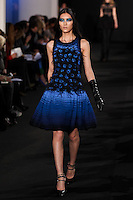 Liu Wen walks down runway for F2012 Prabal Gurung's collection in Mercedes Benz fashion week in New York on Feb 10, 2012 NYC