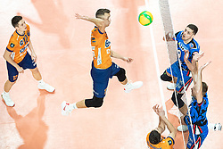Videcnik Matic of ACH Volley during volleyball match between ACH Volley Ljubljana (SLO) and Kuzbas Kemerevo (RUS) n 2nd Round, group B of 2019 CEV Volleyball Champions League, on December 11, 2019 in Hala Tivoli, Ljubljana, Slovenia. Grega Valancic / Sportida