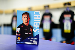 Exeter Chiefs programme featuring Henry Slade on the cover prior to kick off - Mandatory by-line: Ryan Hiscott/JMP - 14/04/2019 - RUGBY - Sandy Park - Exeter, England - Exeter Chiefs v Wasps - Gallagher Premiership Rugby