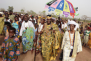 King Tossoh Gbaguidi XIII of Savalou, Benin on February 26, 2008. Kings are perceived as moral figures in Benin society. It's the kings who maintain good relations with the official government, mediating between the people and the government on certain matters. Many citizens consider Benin's peaceful shift to democracy in 1990 as a miracle. The traditional kings played a role in assuring that process.