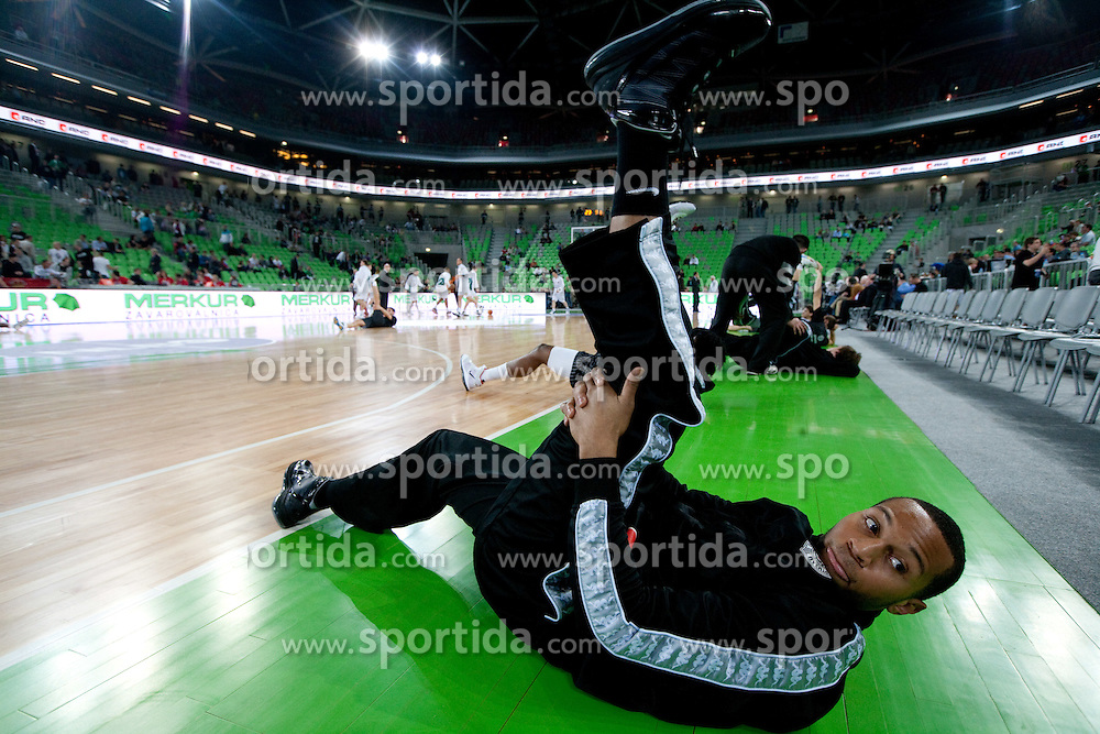 Curtis Jerrells of Partizan prior to the final match of Basketball NLB League at Final four tournament between KK Union Olimpija (SLO) and Partizan Belgrade (SRB), on April 21, 2011 in Arena Stozice, Ljubljana, Slovenia.  (Photo By Vid Ponikvar / Sportida.com)