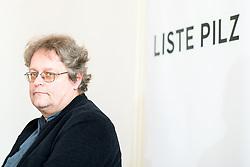 """09.03.2018, Parlamentsklub Liste PILZ, Wien, AUT, Liste PILZ, Pressekonferenz zu den Hausdurchsuchungen beim Bundesamt für Verfassungsschutz und Terrorismusbekämpfung (BVT), im Bild Klubobmann Peter Kolba (Liste Pilz) // Head of the parliamentary group Peter Kolba (Liste Pilz) during media conference of the parliamentary group """"Liste PILZ""""  in Vienna, Austria on 2018/03/09, EXPA Pictures © 2018, PhotoCredit: EXPA/ Michael Gruber"""