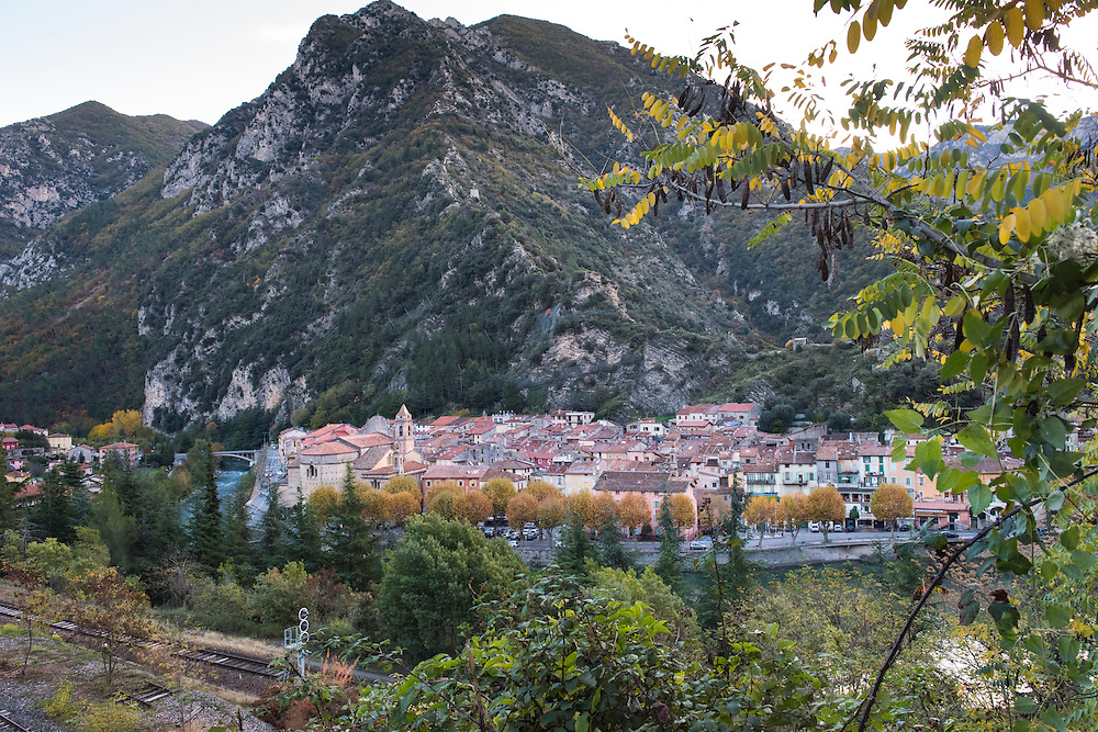 November 10, 2016 - Breil-sur-Roya, France: the traditional old well preserved mountain village Breil-sur-Roya in the Roya valley, in the Alps, on the French Italian border, where habitats formed a network to help migrants who walked into the valley from Ventimiglia, Italy. <br /> <br /> 10 novembre 2016 - Breil-sur-Roya, France: 120 habitants de l'ancien village historique de montagne, traditionnel et pr&eacute;serv&eacute; Breil-sur-Roya, dans la vall&eacute;e de la Roya, dans les Alpes, &agrave; la fronti&egrave;re entre la France et l'Italie, ont form&eacute; un r&eacute;seau pour aider les migrants venus de Ventimiglia, Italie