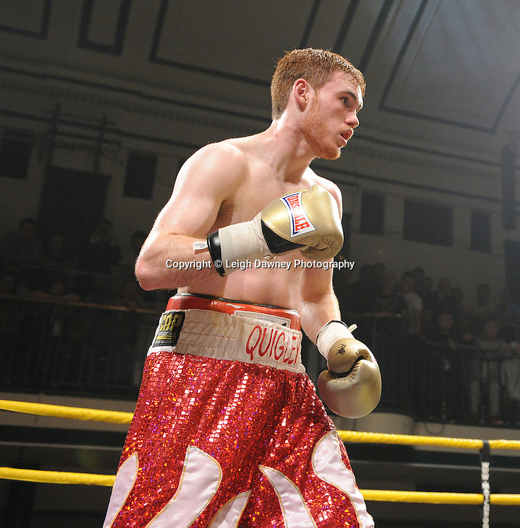 Robert Lloyd Taylor defeats Nick Quigley (pictured) claiming Prizefighter -  The Light Middleweights II. York Hall, Bethnal Green, London, UK. 15th September 2011. Photo credit: © Leigh Dawney.