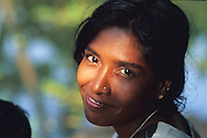 Portrait of a Backwaters' woman.