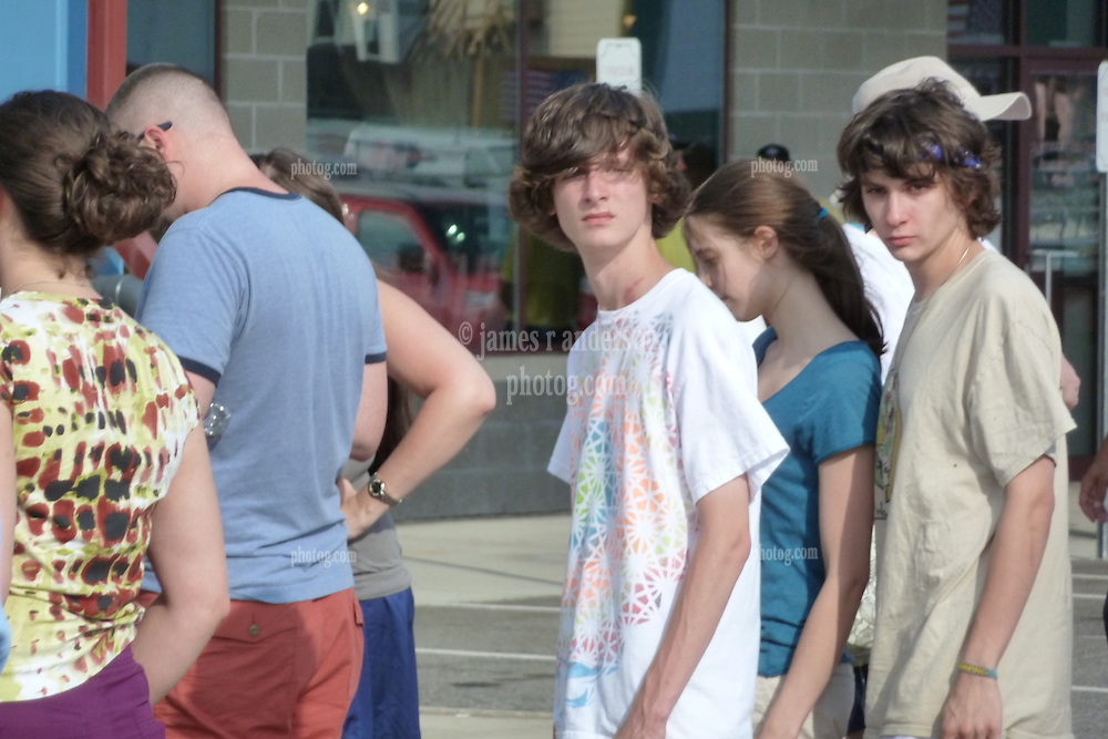 Young Deadheads lined up at the gate before the Show. Furthur Band at McCoy Stadium, Pawtucket RI on 5 July 2012