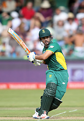 JP Duminy of South Africa pulls a delivery through the leg side during the 5th ODI match between South Africa and Australia held at Newlands Stadium in Cape Town, South Africa on the 12th October  2016<br /> <br /> Photo by: Shaun Roy/ RealTime Images