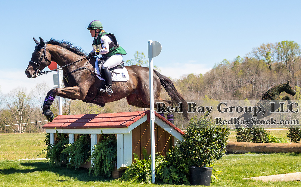 Emily Beshear and Knight Hill at The Fork Horse Trials at the Tryon International Equestrian Center in Millbrook, North Carolina.