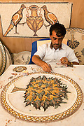 Mosaic Artist at work. Photographed in Jerash, Jordan