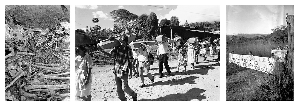 Masacre el Mozote, exhumaciones y aniversario conmemorativo en Morazan, El Salvador  de una de las masacres de víctimas civiles durante  la guerra civil de El Salvador 1980-1992. . (IL Photo Edgar Romero)