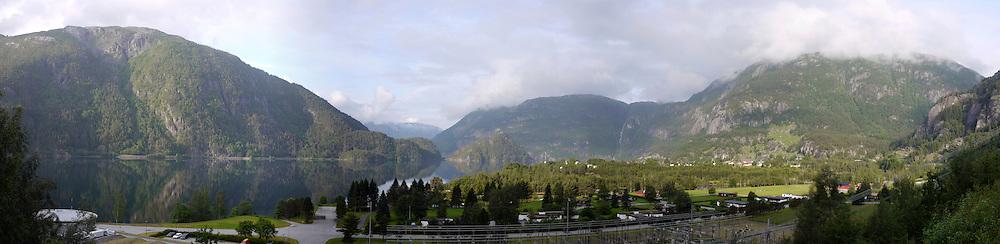 Suldalsvatnet lake Panorama, Norway