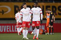 Clement LENGLET / Ibrahim AMADOU  - 06.03.2015 - Nancy / Laval - 27eme journee de Ligue 2 <br />Photo : Fred Marvaux / Icon Sport