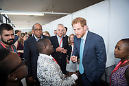 21st International AIDS Conference (AIDS 2016), Durban, South Africa.<br /> Photo shows HRH Prince Harry at the International AIDS Conference. Prince Harry is one of the Co-founders and Patrons of Sentebale, which delivers psychosocial support to adolescents living with HIV in Lesotho and now in Botswana.<br /> Photo&copy;International AIDS Society/Steve Forrest/Workers' Photos