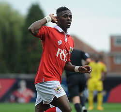 Bristol City's Kieran Agard celebrates his goal. - Photo mandatory by-line: Dougie Allward/JMP - Mobile: 07966 386802 - 27/09/2014 - SPORT - Football - Bristol - Ashton Gate - Bristol City v MK Dons - Sky Bet League One
