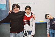 Druze boys in their classroom at school, Northern Israel. Photograph by Debbie Zimelman, Modiin, Israel