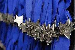 13.04.2014, Wien, AUT, Vienna City Marathon 2014, im Bild Medaillen für alle, die ins Ziel kommen, Feature // during Vienna City Marathon 2014, Vienna, Austria on 2014/04/13. EXPA Pictures © 2014, PhotoCredit: EXPA/ Gerald Dvorak