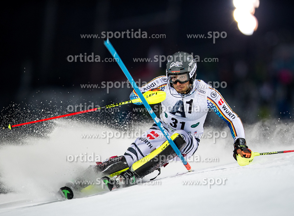 24.01.2017, Planai, Schladming, AUT, FIS Weltcup Ski Alpin, Schladming, Slalom, Herren, 1. Lauf, im Bild Dominik Stehle (GER) // Dominik Stehle of Germany in action during his 1st run of men's Slalom of FIS ski alpine world cup at the Planai in Schladming, Austria on 2017/01/24. EXPA Pictures © 2017, PhotoCredit: EXPA/ Johann Groder
