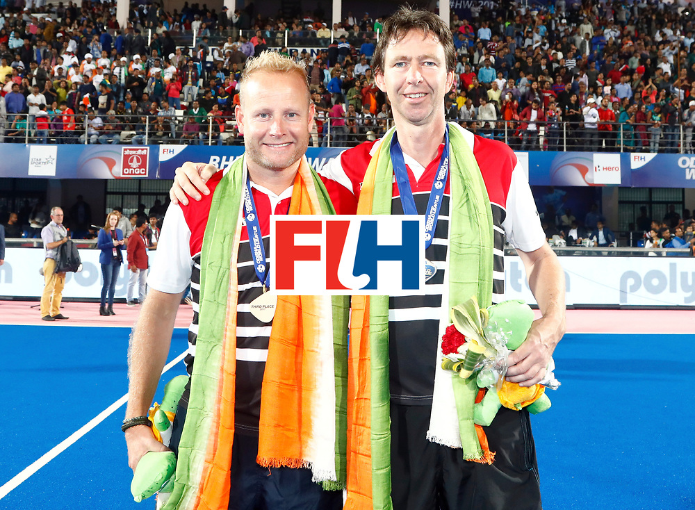 Odisha Men's Hockey World League Final Bhubaneswar 2017<br /> Match id:21<br /> India v Germany<br /> Foto: coach Sjoerd Marijne (Ind) <br /> WORLDSPORTPICS COPYRIGHT KOEN SUYK