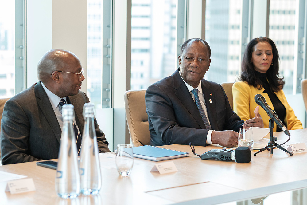 Business Briefing with HE Alassane Ouattara, President of Cote d'Ivoire. London, 21 January 2020. (Photos/Ivan Gonzalez)