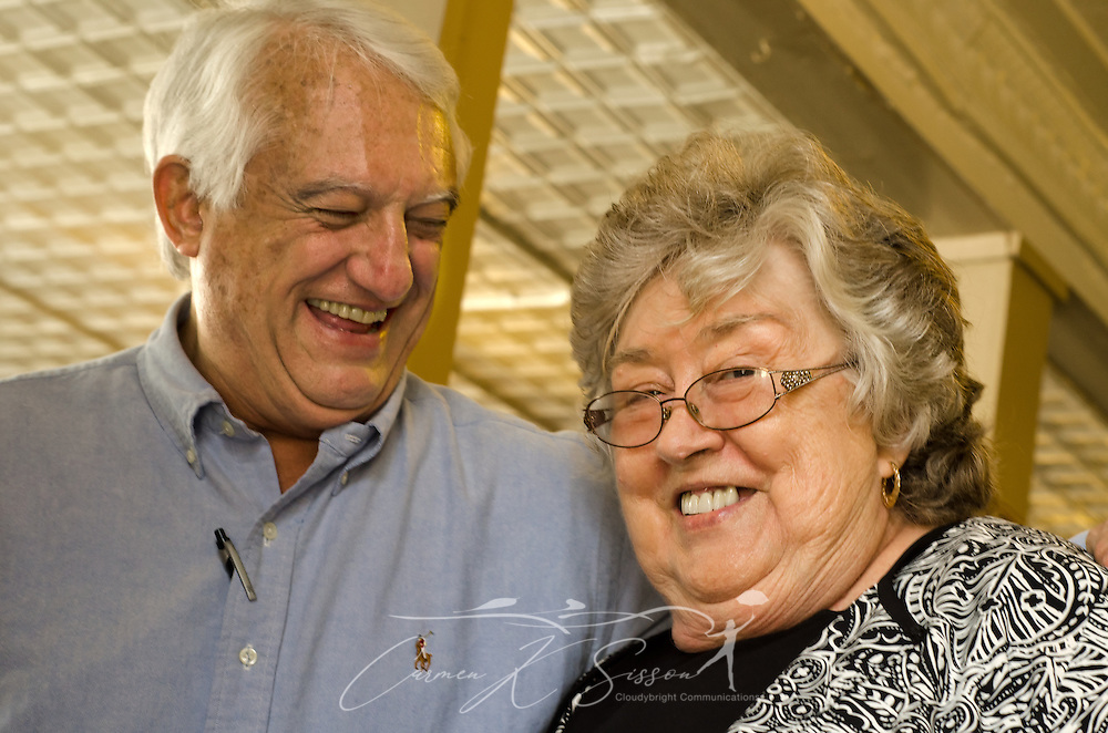 A couple laughs at Martha's Menu in Corinth, Mississippi. (Photo by Carmen K. Sisson/Cloudybright)