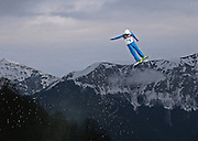 Anton Kushnir of Belarus skis during qualification for men's aerials at Rosa Khutor Extreme Park during the Winter Olympics in Sochi, Russia, Monday, Feb. 17, 2014. Kushnir won the gold medal. (Brian Cassella/Chicago Tribune/MCT)