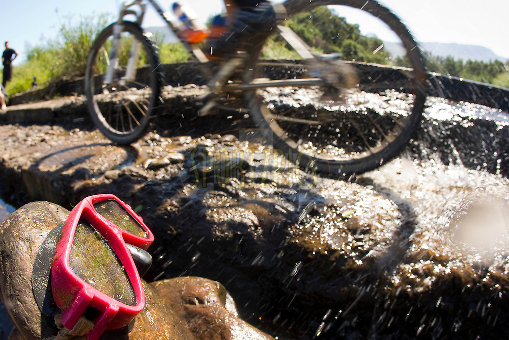 WESTERN CAPE, SOUTH AFRICA -  1 April 2008, riders almost needed a snorkel during stage four of the 2008 Absa Cape Epic Mountain Bike stage race from Langenhoven High School in Riversdale to Swellendam Primary School in Swellendam, Western Cape, South Africa..Photo by Sven Martin/SPORTZPICS