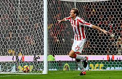 Peter Crouch of Stoke City celebrates after scoring his sides second goal  - Mandatory by-line: Matt McNulty/JMP - 03/01/2017 - FOOTBALL - Bet365 Stadium - Stoke-on-Trent, England - Stoke City v Watford - Premier League
